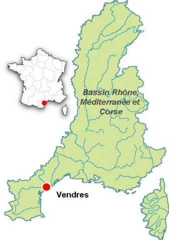 Carte bassin versant Vendres